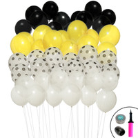 Black & Yellow Ombre Balloon Kit