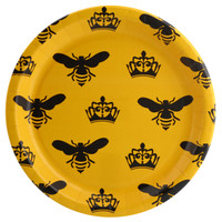 Queen Bee Yellow Dinner Plate (8)