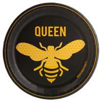Queen Bee Black Dinner Plate (8)