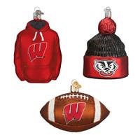 Wisconsin Football Christmas Ornament (3)