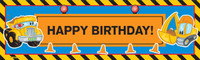 Construction Pals Birthday Banner
