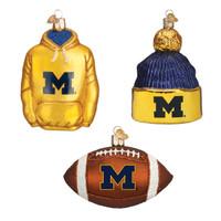 Michigan Football Christmas Ornaments (3)