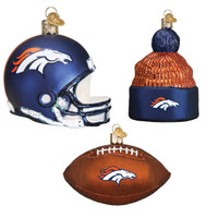 Denver Bronco Christmas Ornaments
