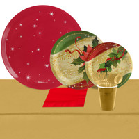 Sparkling Christmas 24 Guest Party Pack + Melamine Tray