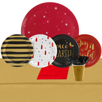 Joy To The World 32 Guest Appetizer Pack + Melamine Tray