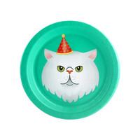 Cats Meow White Cat Dessert Plate (8)