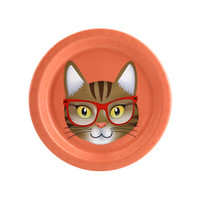 Cats Meow Brown Cat Dessert Plate (8)
