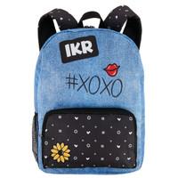 Denim & Black Canvas Backpack