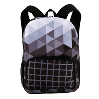 Black & White Fractal Canvas Backpack