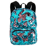 Teal & Pink Sequin Backpack