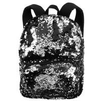 Black & Silver Sequin Backpack