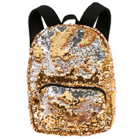 Gold & Silver Sequin Backpack