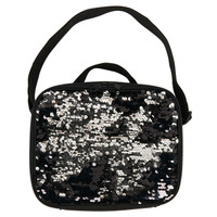 Black & Silver Sequin Lunch Tote