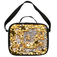 Gold & Silver Sequin Lunch Tote