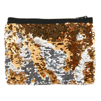 Gold & Silver Sequin Pouch