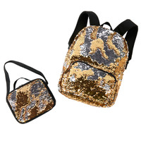 Gold & Silver Sequin Backpack & Lunch Tote