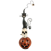 Pumpkin/Skull/Cat Metal Decor