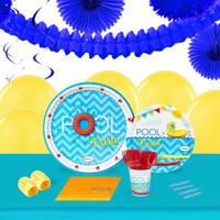 Splashin Pool Party 16 Guest Tableware & Deco Kit