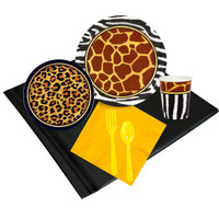 Safari Animal Adverture 16 Guest Party Pack
