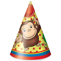 Curious George Cone Hats