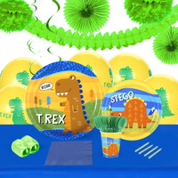 T-Rex 16 Guest Tableware & Deco Kit