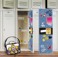 Denim Locker Decal & Emoji Patches