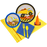Construction Party 16 pc Guest Pack Plus Molded Cups