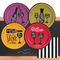 Wine Time 32 pc Appetizer Pack w/ Chalkboard Runner