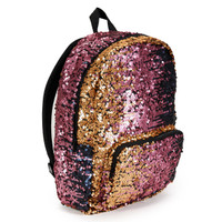 Pink Navy & Gold Sequin Backpack