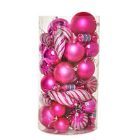 Pink Assorted Ornament Set (48)