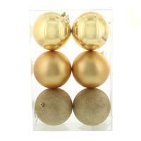 Gold 120mm Ball Ornament Set (6)