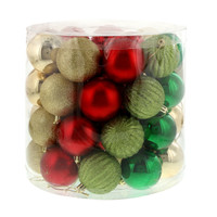 Traditional Holly Ornament Assortment (48)