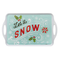 Let it Snow! Rectangle Melamine Tray