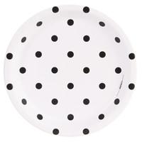 Fancy Floral Polka Dot Dinner Plate (8)