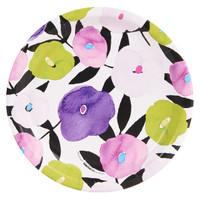Fancy Floral Violet Dinner Plate (8)
