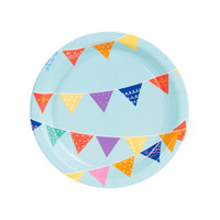 Playful Pom Pom Flag Banner Dessert Plate (8)