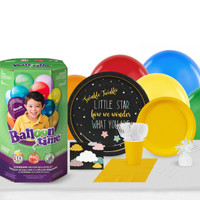 Twinkle Twinkle How I Wonder 16 Guest Party Pack and Helium Kit