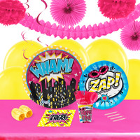 Superhero Girl 16 Guest Party Pack