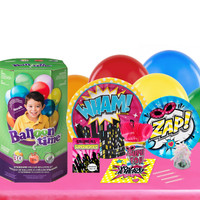 Superhero Girl 16 Guest Party Pack and Helium Kit