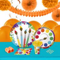 Art Party 16 Guest Tableware & Deco Kit