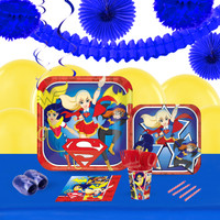 DC Super Hero Girls 16 Guest Tableware & Deco Kit