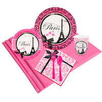 Paris Damask 24 Guest Party Pack