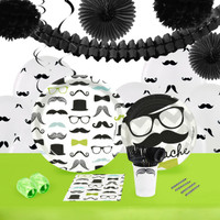 Mustache Man 16 Guest Tableware & Deco Kit