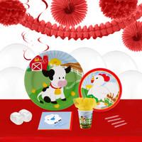 Barnyard 16 Guest Tableware & Deco Kit
