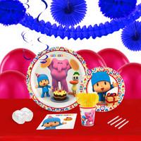 Pocoyo 16 Guest Tableware & Deco Kit