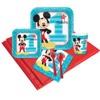 Disney Mickey Mouse 1st Birthday 16 Guest Party Pack 2