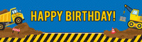 Contruction Party Birthday Banner