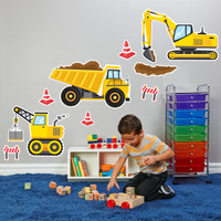 Construction Party Giant Wall Decal