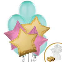 Mint Pink & Gold Balloon Bouquet