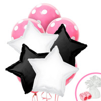 Black White & Pink Balloon Bouquet